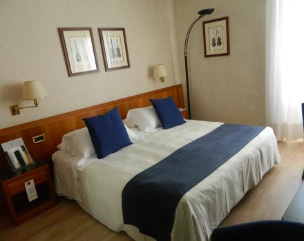 Double classic rooms of Best Western Hotel Cappello d''Oro Bergamo waiting